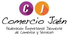 logotipo de CJ - Comercio Jaén. Federación Empresarial Jiennense de Comercio y Servicios